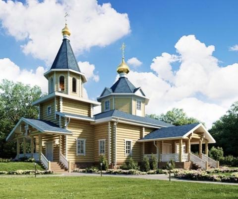 Дизайн  храма Казанской иконы Пресвятой Богородицы в п. Ярега