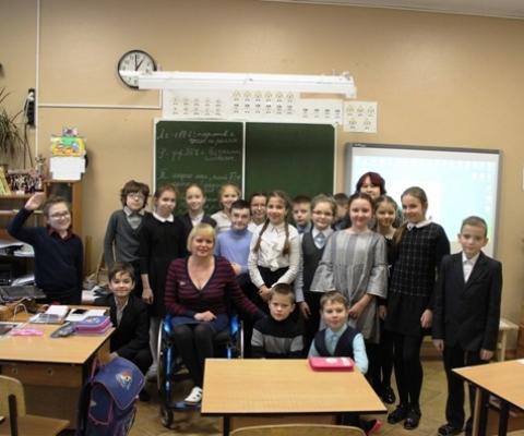 Канева С.А. и ученики 4 класса